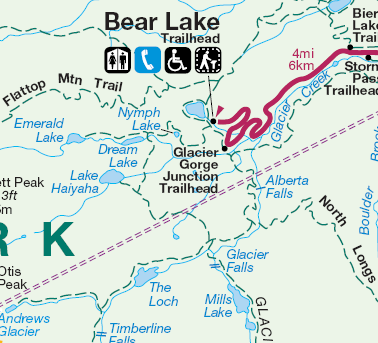 Lake Haiyaha map
