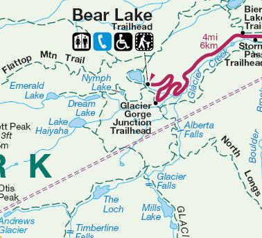 Lake Haiyaha map