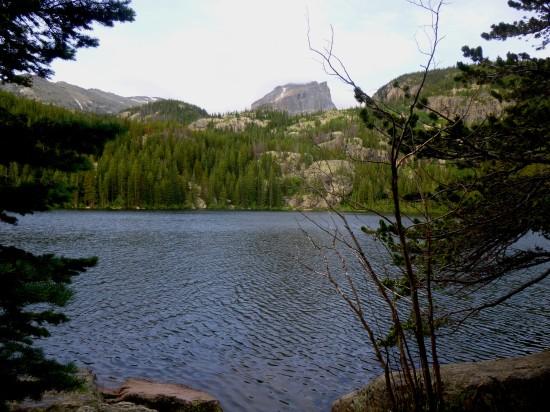 Hallett Peak from the east side of Bear Lake