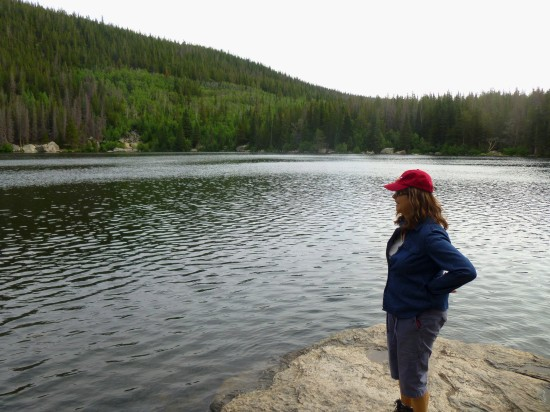 Absorbing the views from Bear Lake's south shore