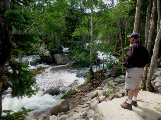 A glimpse of Glacier Creek