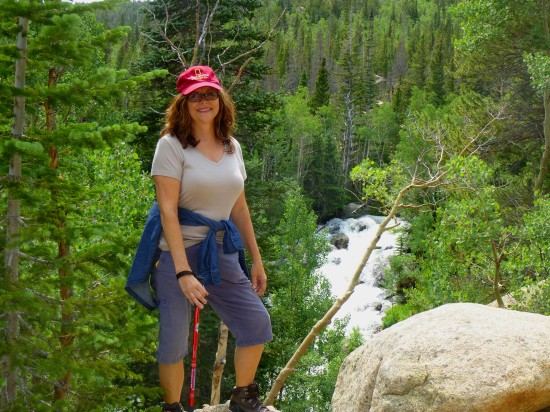My wonderful mother along the trail beyond Alberta Falls