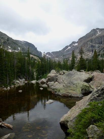 Smaller pond just before Lake Haiyaha