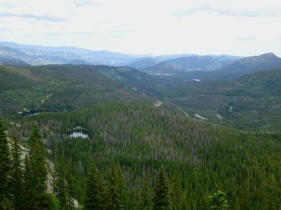 Views of Bear Lake, Nymph Lake, and Glacier Basin