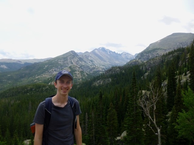 Andrew Wojtanik, author of the blog, in Rocky Mountain National Park, Colorado, July 2013