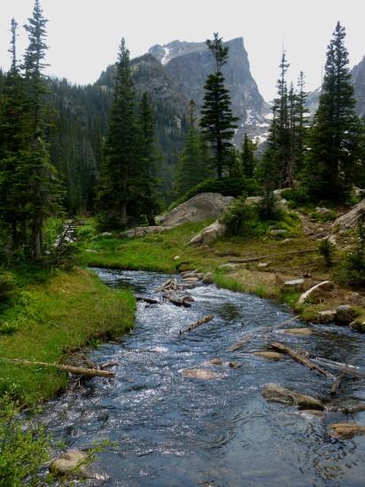 Hallett Peak and Tyndall Creek