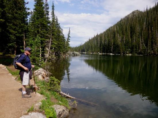 Alongside Dream Lake
