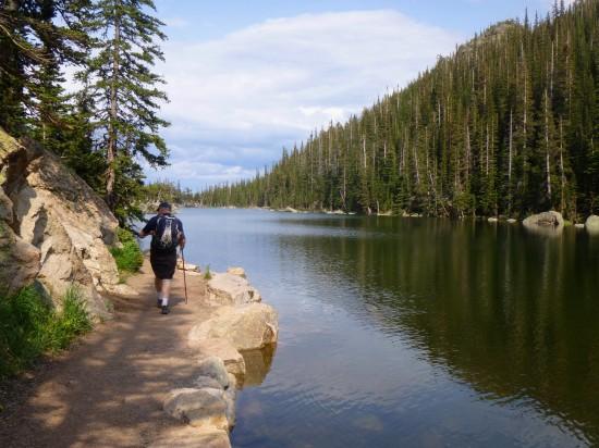 Heading back past Dream Lake