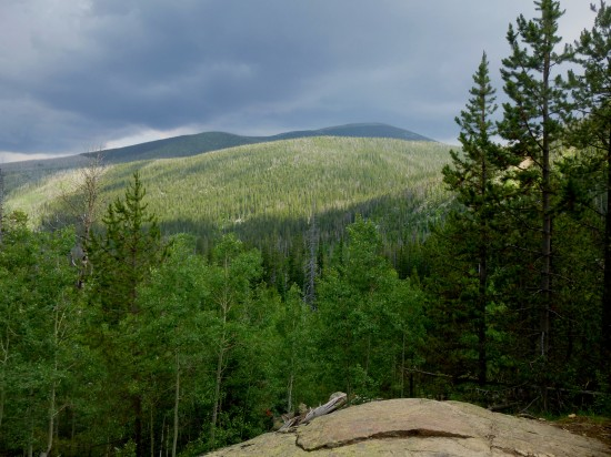 Storm clouds over Meadow Mountain