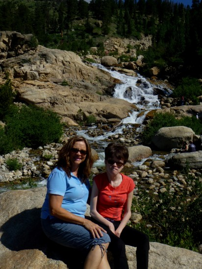 Mom and Jess at Horseshoe Falls, July 2013