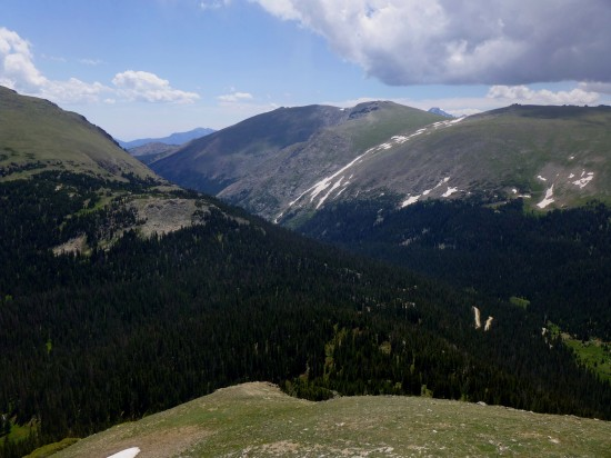 Fall River Valley and Trail Ridge from the summit