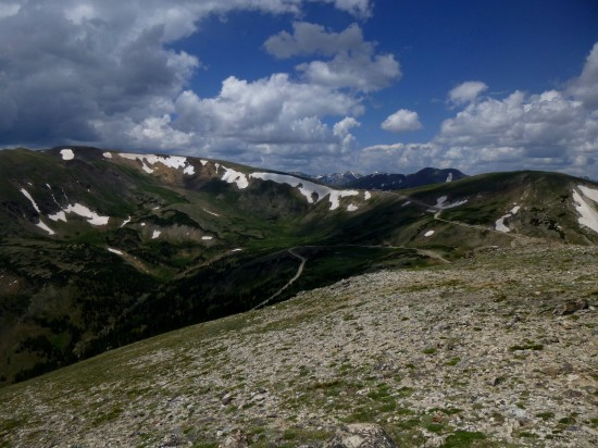 Southwest toward Trail Ridge and Alpine Visitor Center