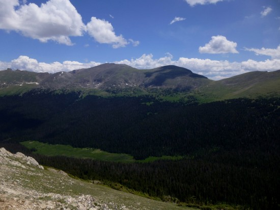 Ypsilon Mountain (13,514') and Mount Chiquita (13,069') to the northeast