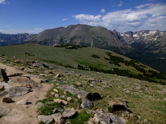 Forest Canyon and Stones Peak (12,922') from Ute Trail