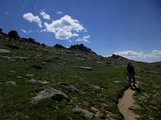 Trail along Tombstone Ridge