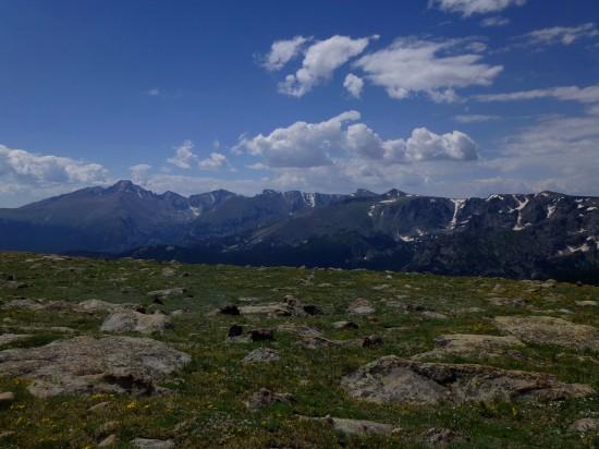 Longs Peak (14,259') on the left