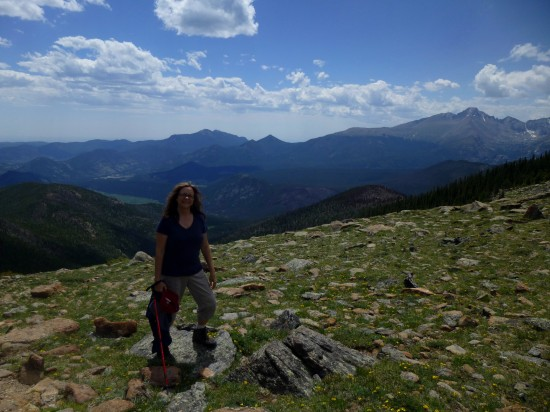 Mom at Timberline Pass