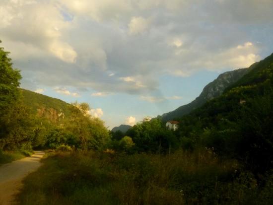 View of Miljacka Canyon from halfway through Dariva