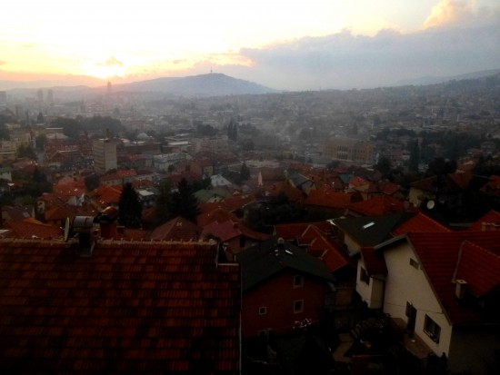 View of Sarajevo from Bistrik, near Put Mladih Muslimana