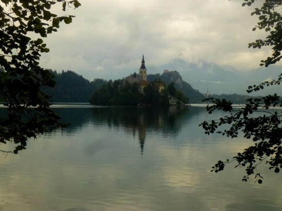 Lake Bled from the southern bank