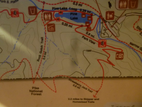 Map of the loop - Buck Gulch to Strawberry Jack to Park View Trail
