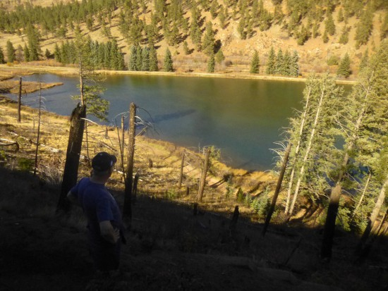 View of Pine Lake, at the final switchback