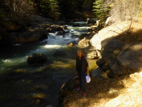Mom at the banks of the North Fork of the South Platte