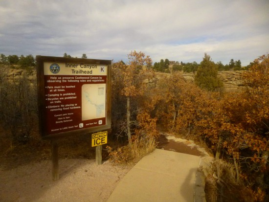 Inner Canyon Trailhead, at the end of the paved path