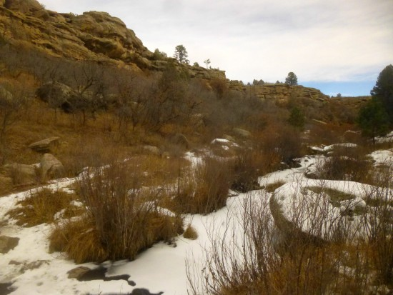 Looking up canyon from the bridge over Cherry Creek on the Inner Canyon Trail