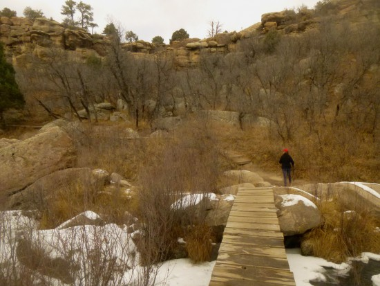 Bridge over Cherry Creek on Inner Canyon Trail