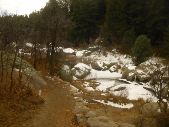 Snowy Cherry Creek along the Inner Canyon Trail
