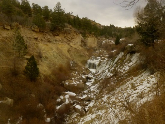 The falls in Castlewood Canyon