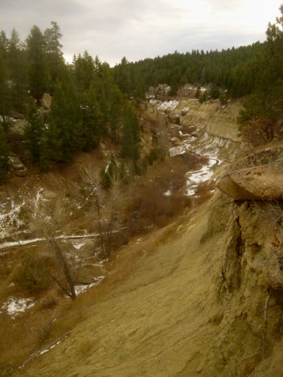 Canyon Bottom Trail, Castlewood Canyon State Park (Colorado), November 2014
