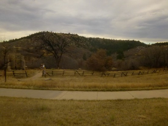 Last views of Castlewood Canyon, from the Lucas Homestead historic site