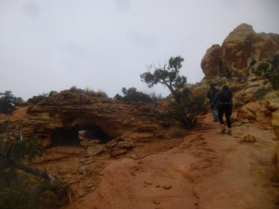 Small arch just before ascending the knob, Navajo Knobs Trail, Capitol Reef National Park