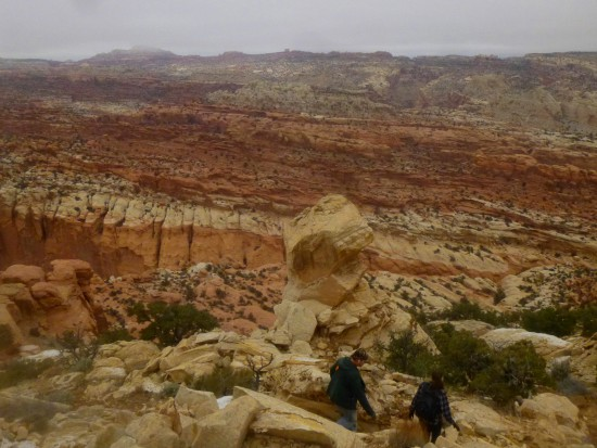 View north to Spring Canyon and beyond, from Navajo Knobs, Capitol Reef National Park