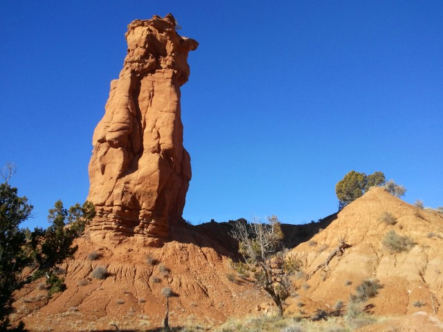Fred Flintsone Spire near the start of the Panorama Trail, Kodachrome Basin State Park