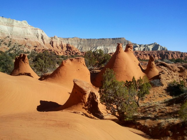 "Odd teepee-like formations at the ""Secret Passage,"" Panorama Trail, Kodachrome Basin State Park"