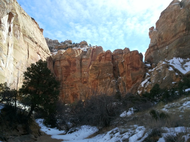 Entering Shinob Canyon, Capitol Reef National Park