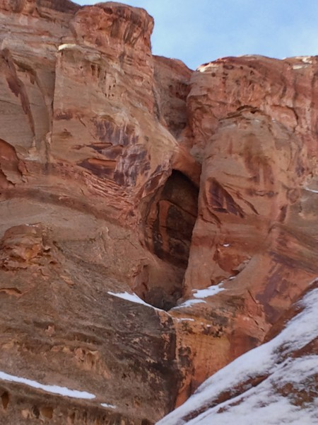 "Tiny ""Boomerang Arch"" in Shinob Canyon"