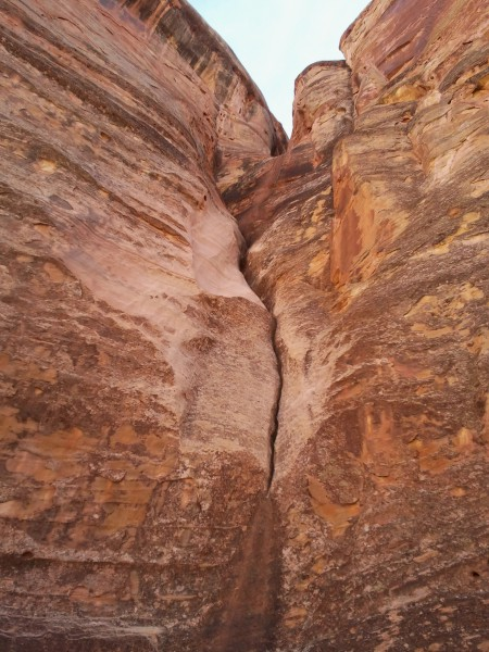 Na-Gah Fork of Shinob Canyon, final rappel section