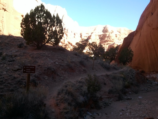 Beginning of box canyon route #1, Grand Parade Trail, Kodachrome Basin State Park