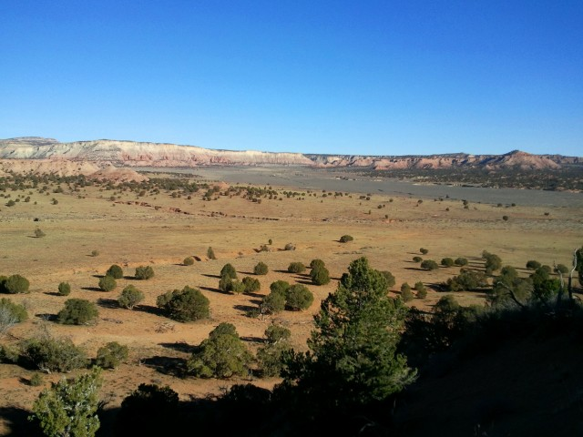 Views east, toward Grand Staircase-Escalante National Monument