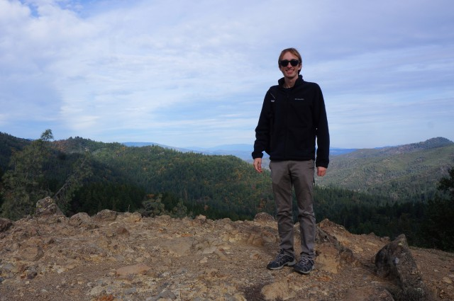 Me at the first overlook, Table Rock Trail