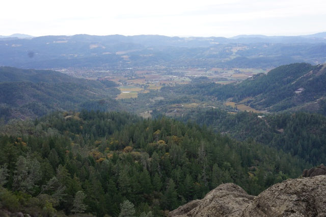 Views of Calistoga and Napa Valley from Table Rock, Robert Louis Stevenson State Park