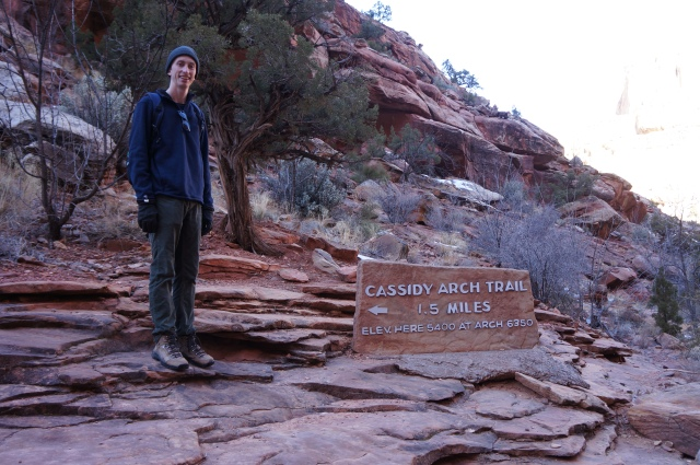 Me at the start of the Cassidy Arch Trail