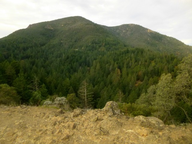 Mount St. Helena (4,343') from overlook
