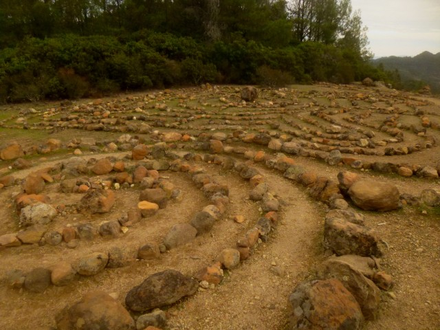 Second labyrinth, Table Rock Trail, Robert Louis Stevenson State Park