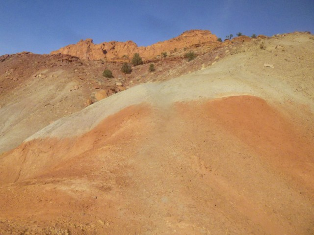 Tough climb through the Chinle formation to the top of Cooks Mesa