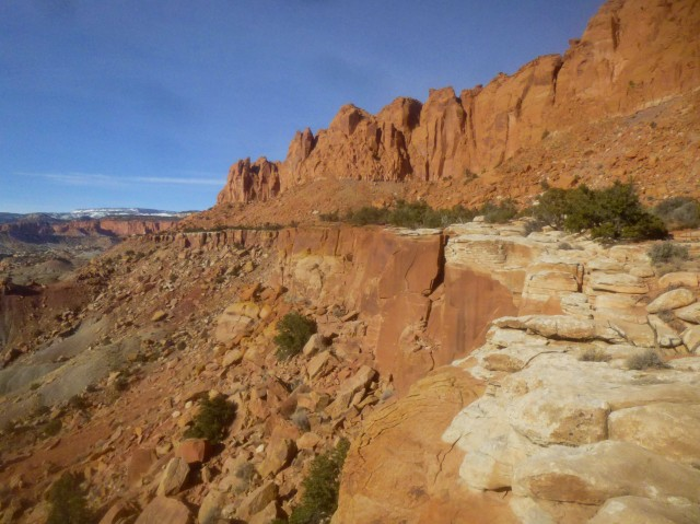 Ledges of Cooks Mesa, with higher Meeks Mesa above
